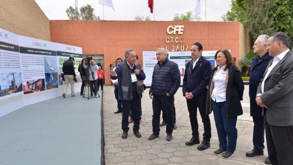 AMLO, Bartlett y Nahle visitan central El Sauz, de CFE