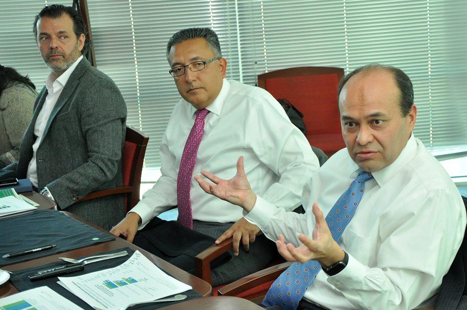 De izquierda a derecha: Carlos García César, Manuel Nieblas y Alberto Torrijos.