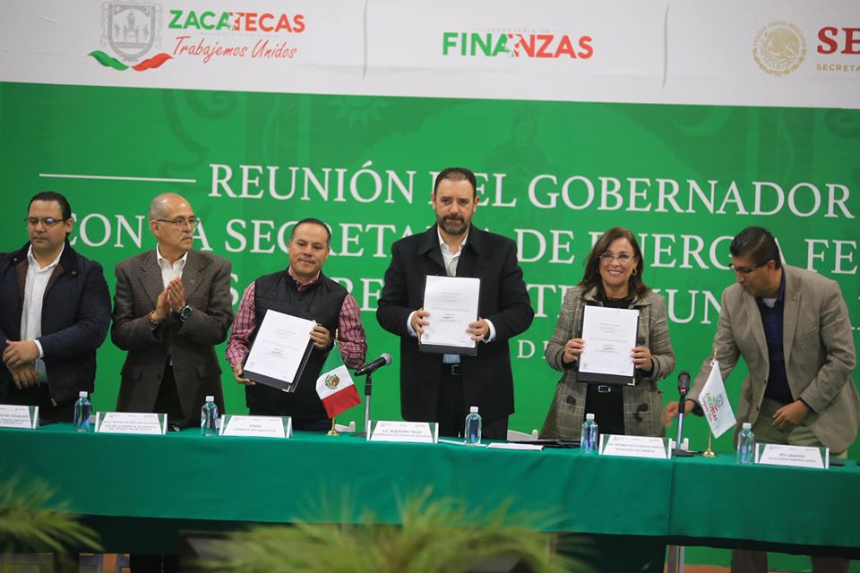Sener y Zacatecas firman pacto de energía