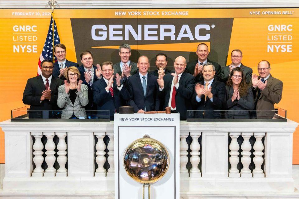 Generac repunta 746% en una década en el NYSE