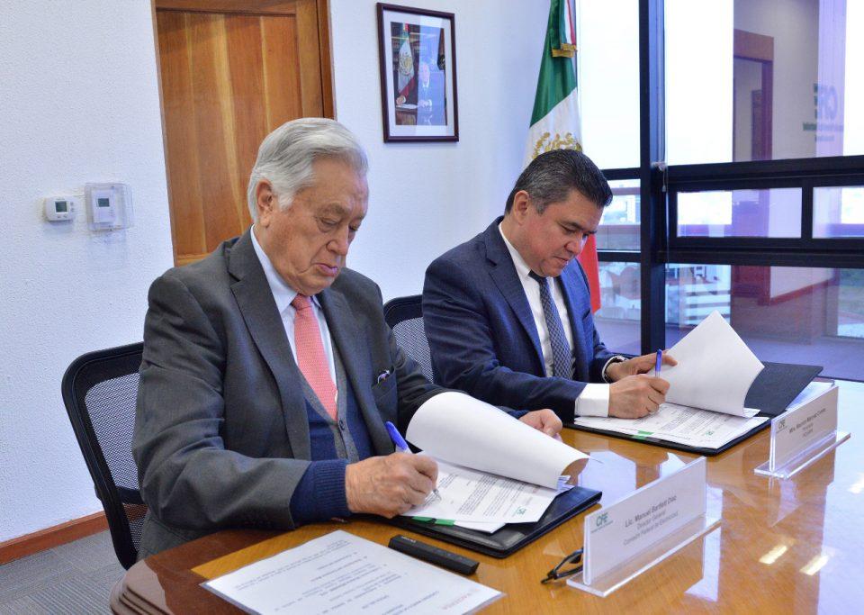 Manuel Bartlett y Márquez Corona convenio CFE INDAABIN