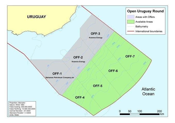 Bahamas Petroleum recibe licencia offshore en Uruguay