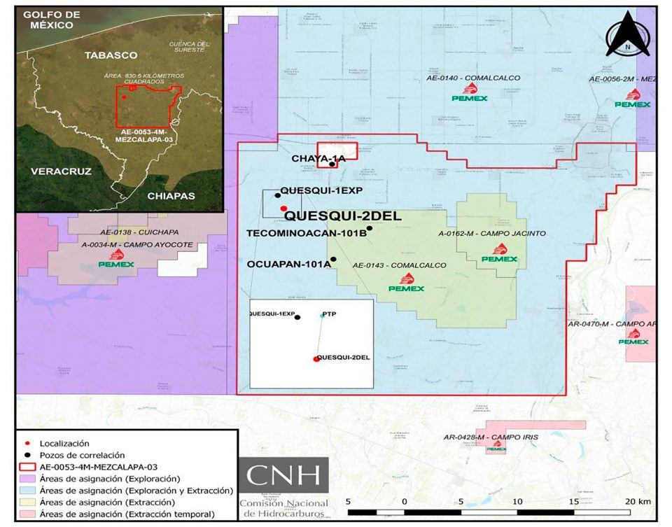 CNH aprueba a Pemex invertirá 37.4 mdd en pozo Quesqui