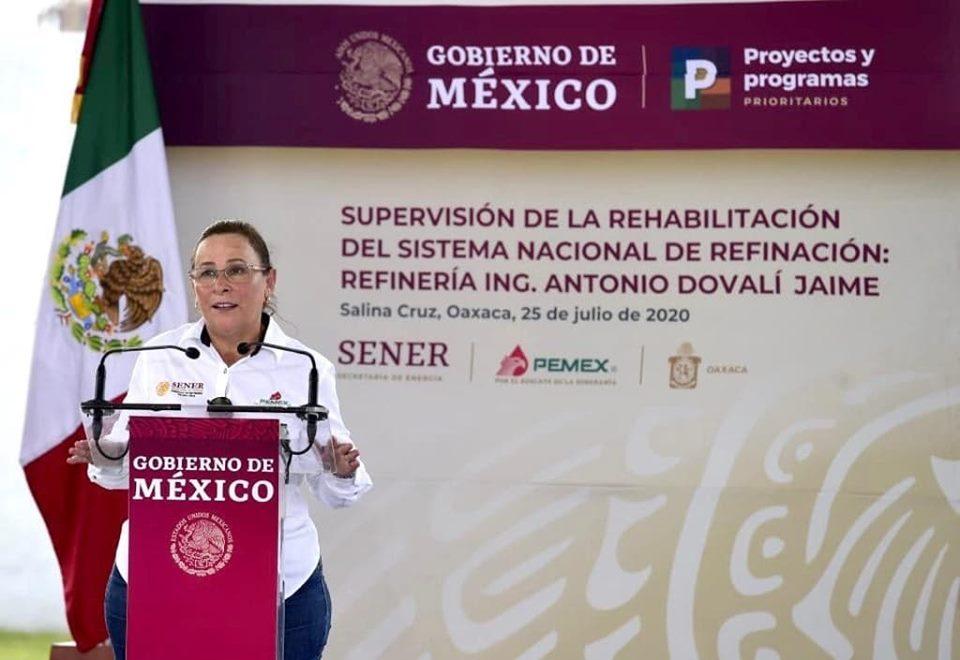 Avanza 86% rehabilitación de refinería en Salina Cruz: Nahle