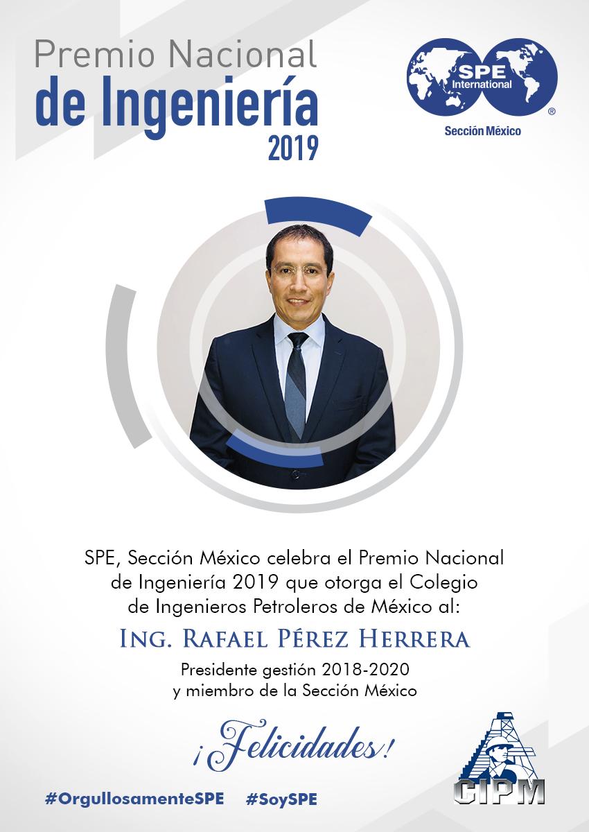 CIPM entrega a Rafael Pérez Herrera Premio Nacional de Ingeniería 2019