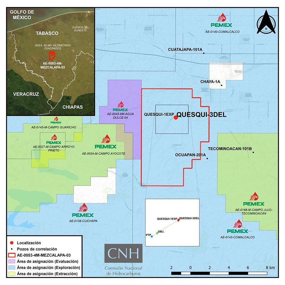 Pemex invertirá 55 mdd en perforación de pozo Quesqui