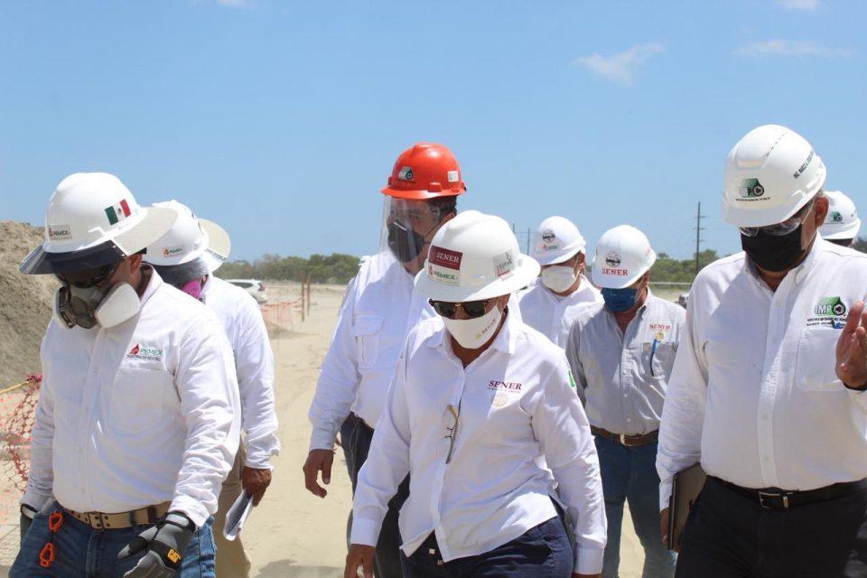 Concluye cimentación de rack de planta combinada en Dos Bocas