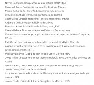 Mexico Gas Summit asistentes