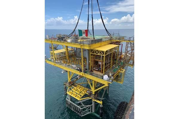 Heerema instala plataforma Yaxche-C en aguas someras de Tabasco