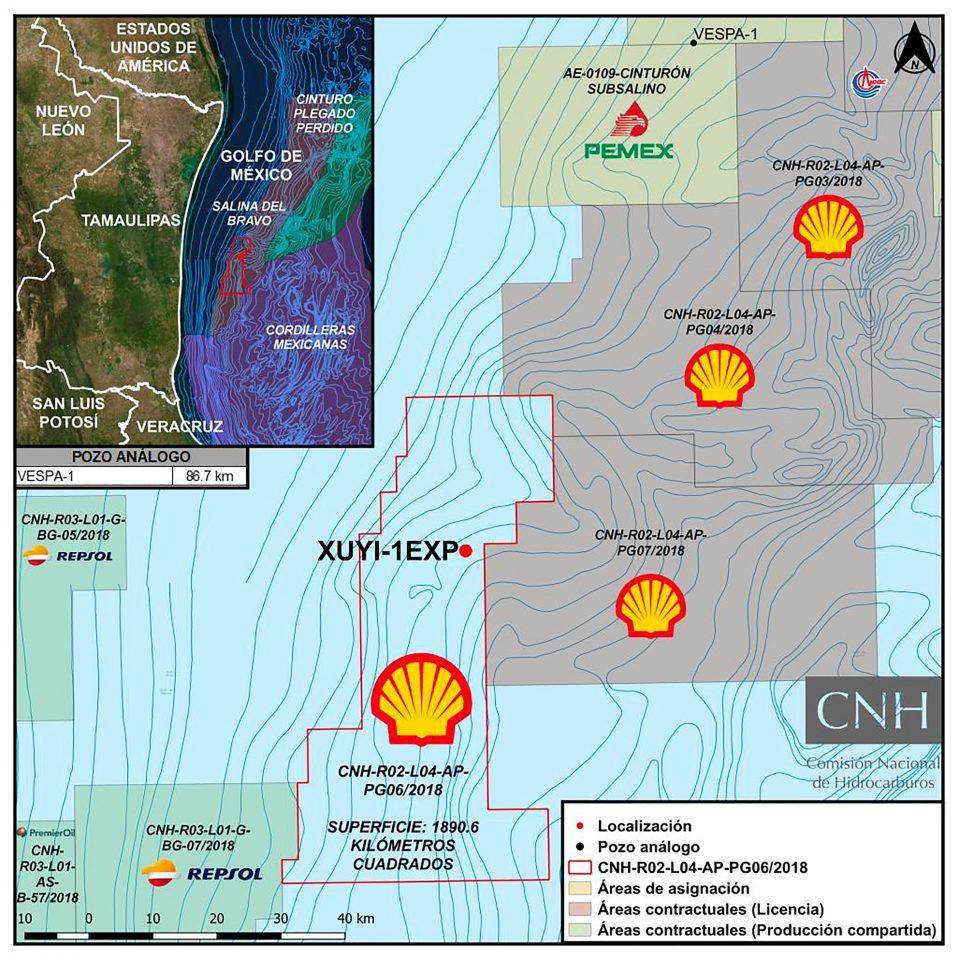Shell inicia perforación de pozo Xochicalco-1EXP en Tamaulipas