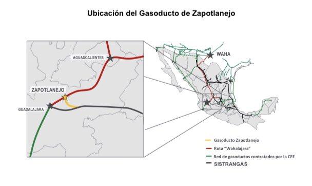 Entra en operación Gasoducto de Zapotlanejo: CFE
