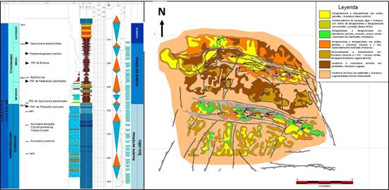 Datos sísmicos con procesamiento multicomponente PP-PS