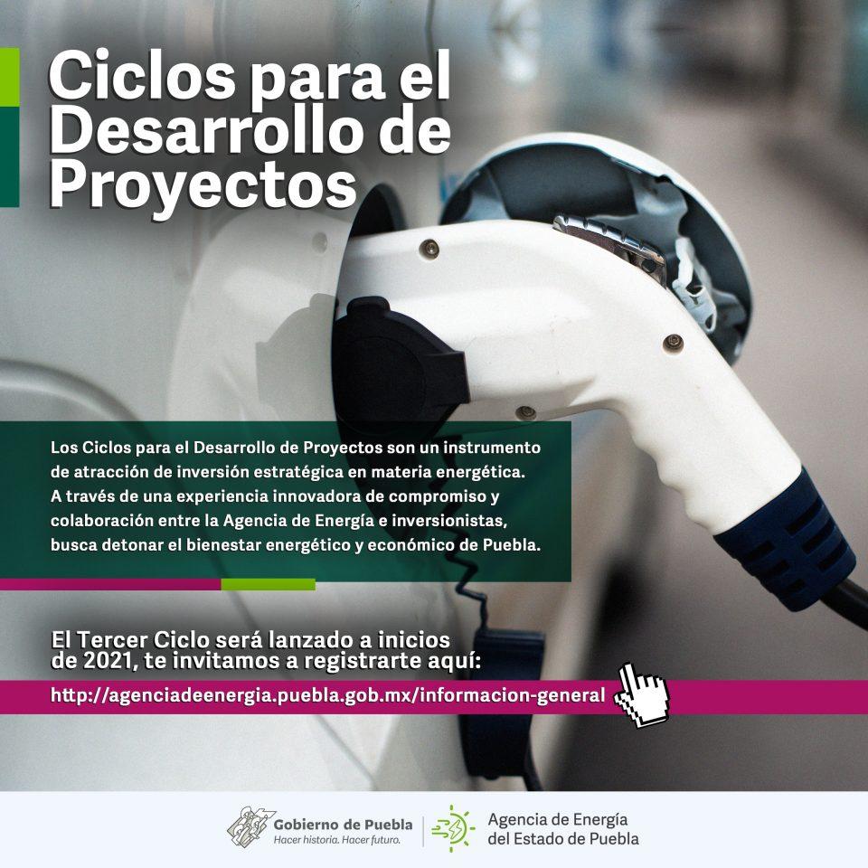 Ciclo de Desarrollo de Proyectos de la Agencia de Energía del Estado de Puebla