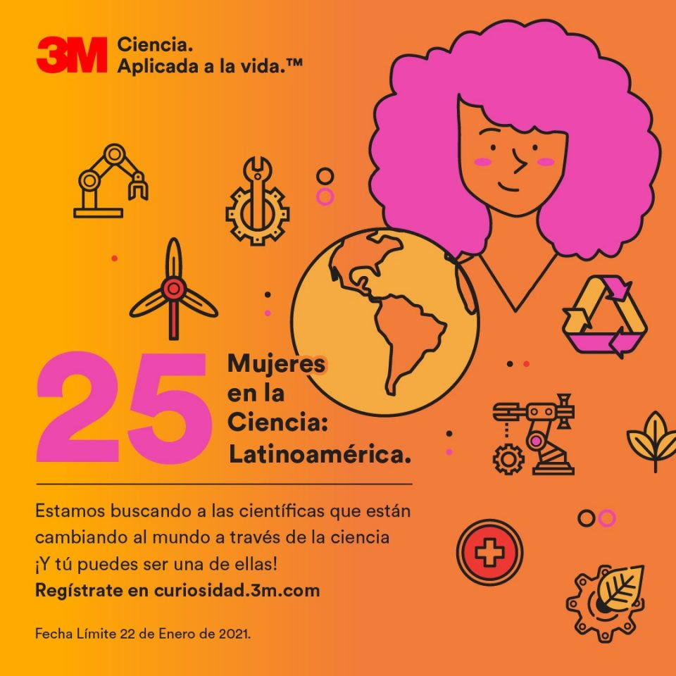 3M: 25 Mujeres en la Ciencia. Participa en el concurso