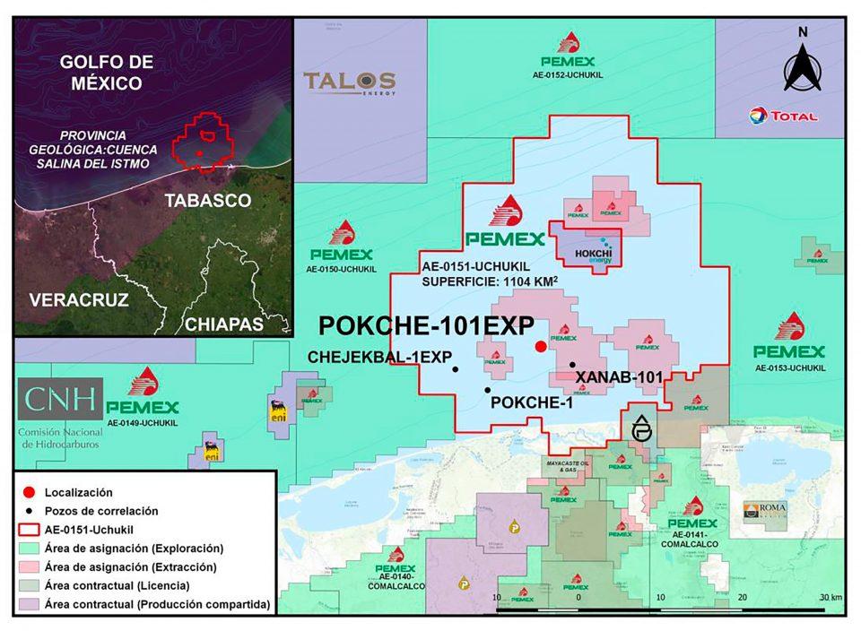 Pemex perforará pozo exploratorio en aguas someras Pokche-201EXP