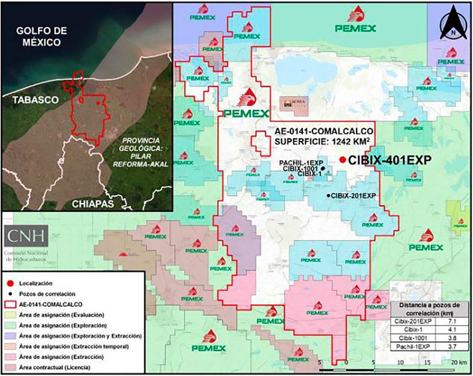 CNH aprueba inversión de 15.5 mdd de Pemex en pozo Cibix