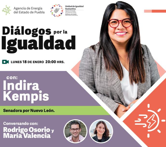 """Indira Kempis participa en el programa """"Diálogos por la igualdad"""""""