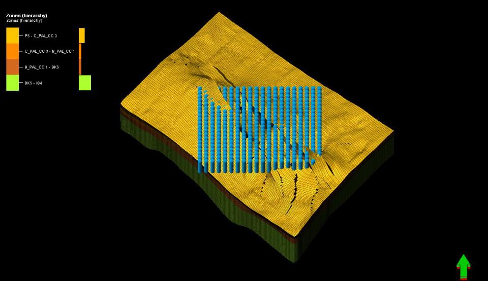 Potencial de producción en paleoceno superior del campo Ek-Balam; sistema poroso y flujos preferenciales.
