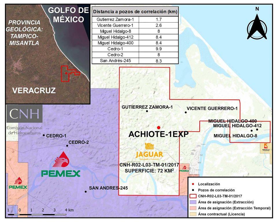 Jaguar E&P invertirá 10.6 mdd en perforación de pozo Achiote-1EXP