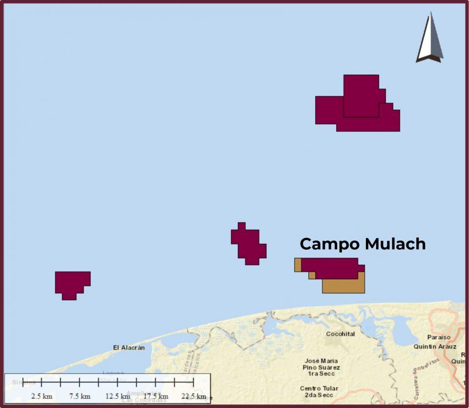 Pemex invertirá 1,574 mdd en campo Mulach de aguas someras