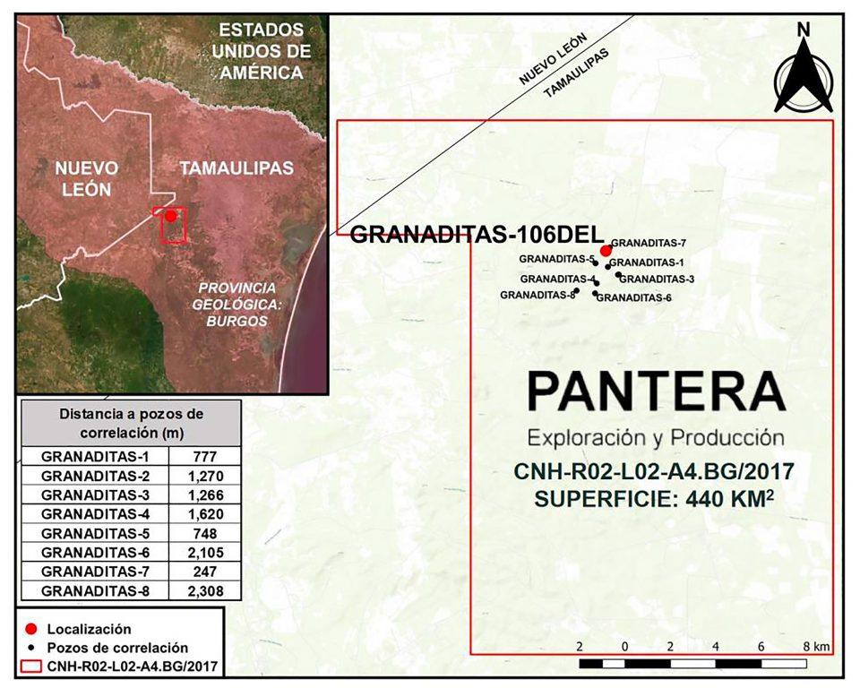 Pantera E&P perforará pozo delimitador terrestre Granaditas