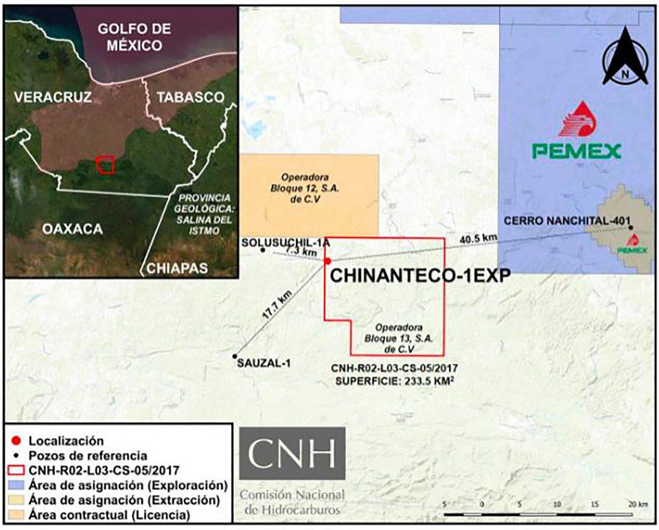 CHN aprueba Operadora Bloque 13 perforación de pozo Chinanteco-1EXP