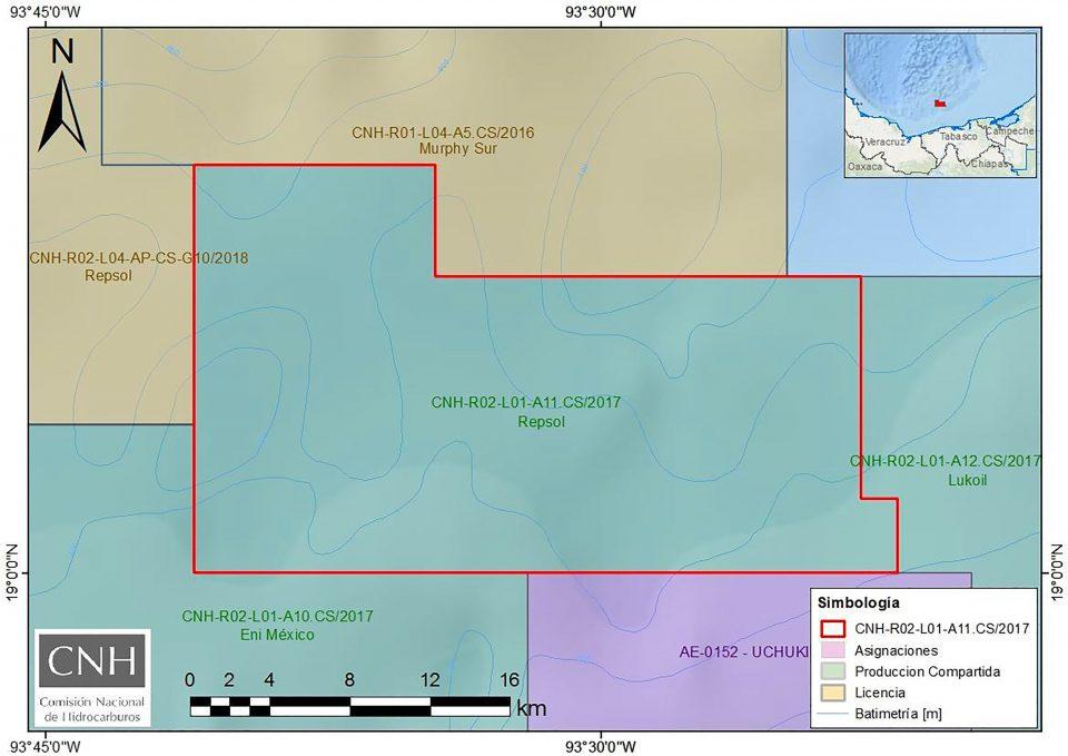 CNH aprueba plan de exploración de Repsol en costas de Tabasco