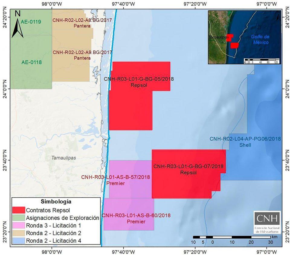 Aprueba CNH planes de trabajo de Repsol en aguas someras