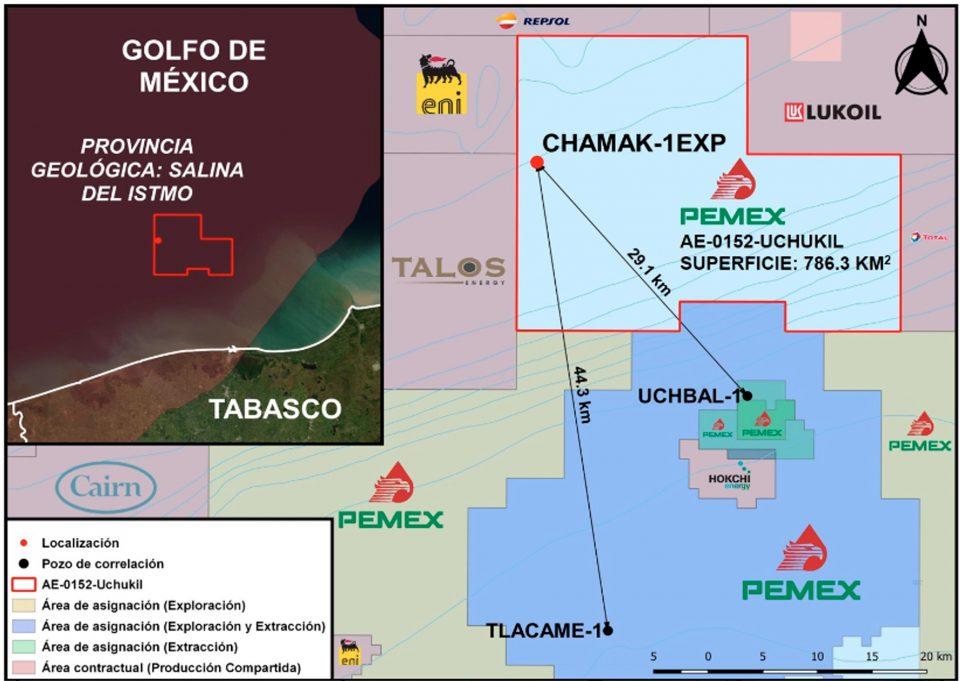 Pemex invertirá 43.5 mdd en pozo Chamak-1EXP