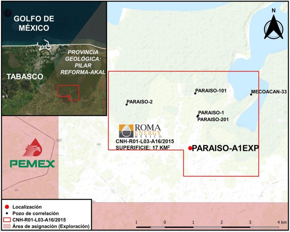Roma Energy iniciará perforación de pozo Paraíso-A1EXP