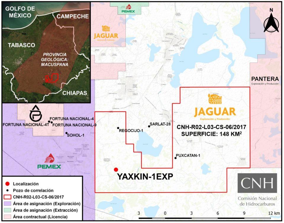 Jaguar E&P invertirá 5.76 mdd en perforación de pozo terrestre Yaxkin-1EXP