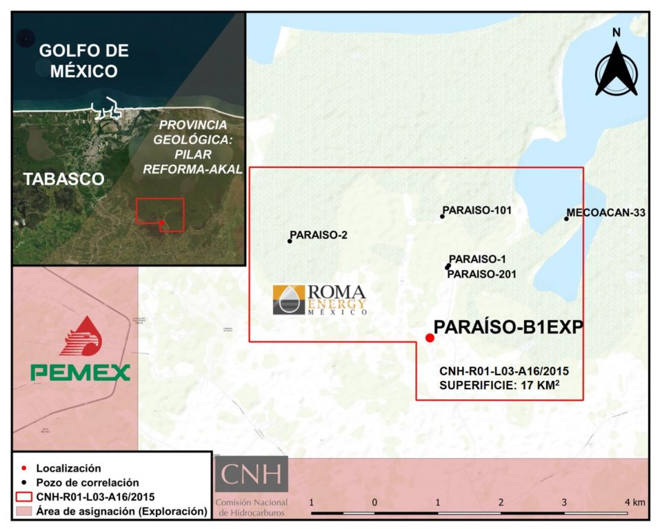 Roma Energy va por 2 millones de barriles en Paraíso B1EXP