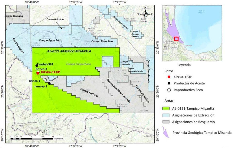 Pemex estima recuperar 10.4 millones de barriles de crudo en pozo Kitxka-1EXP