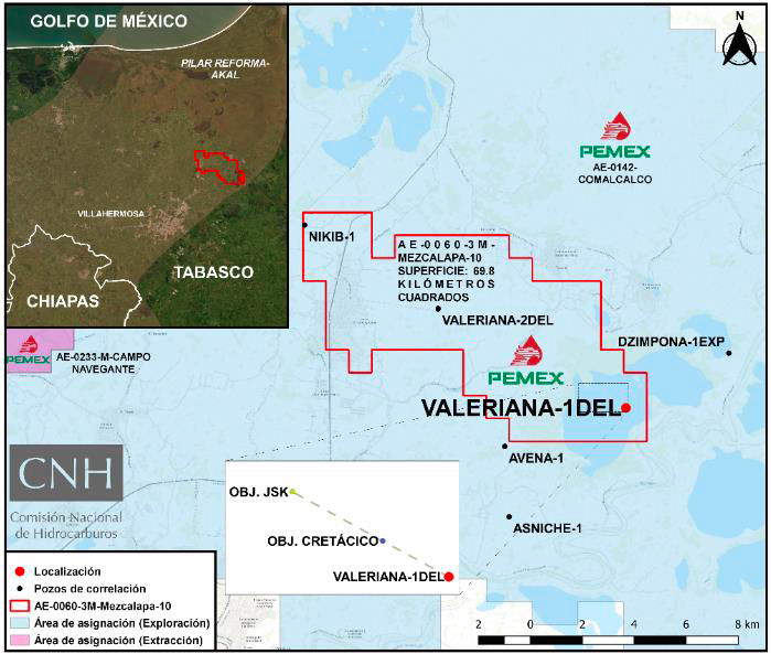 Pemex invertirá 38 mdd en perforación de Valeriana-1DEL