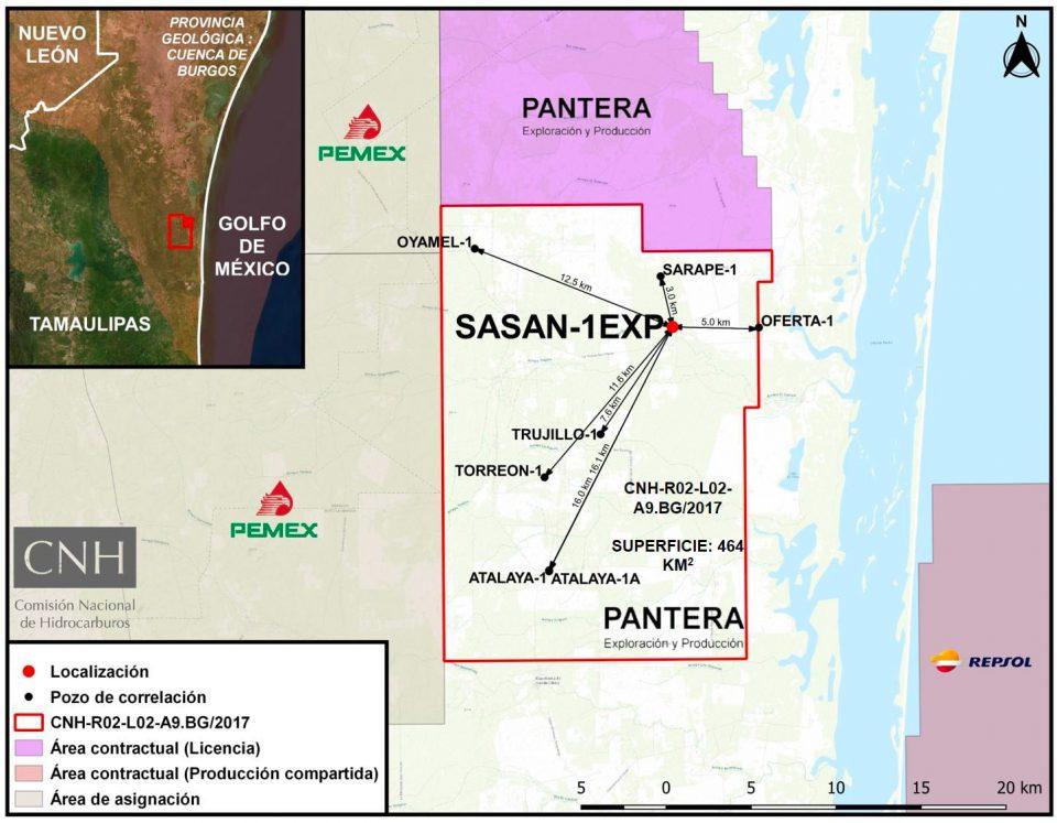 Aprueban a Pantera E&P perforar pozo Sasan-1EX