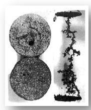 Disolución de carbonatos en geometría radial