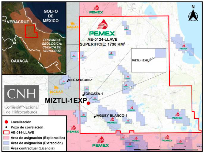 Pemex invertirá 20 mdd en pozo Miztli-1EXP