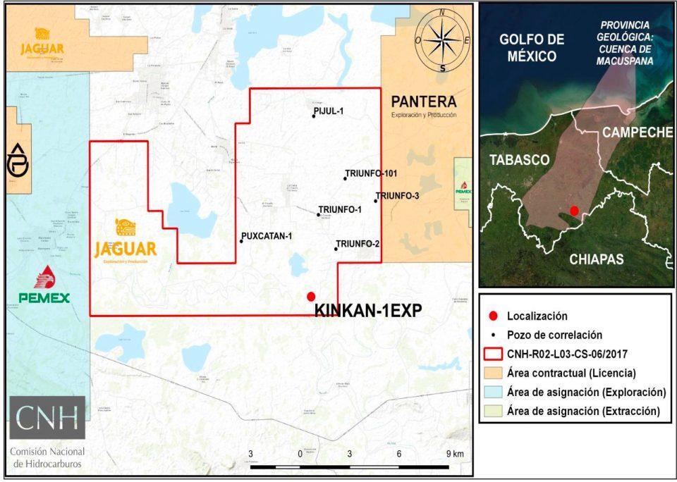 Autorizan a Jaguar E&P perforación de Kinkan-1