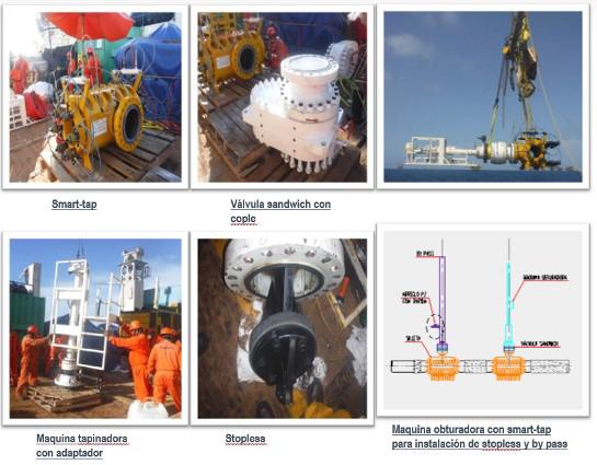 La reparación submarina del oleoducto 010 IXTOC-A/AKAL-F, sustituyendo tubería y utilizando by-pass, hot tappings y stopless en AIPB-AS01-01.