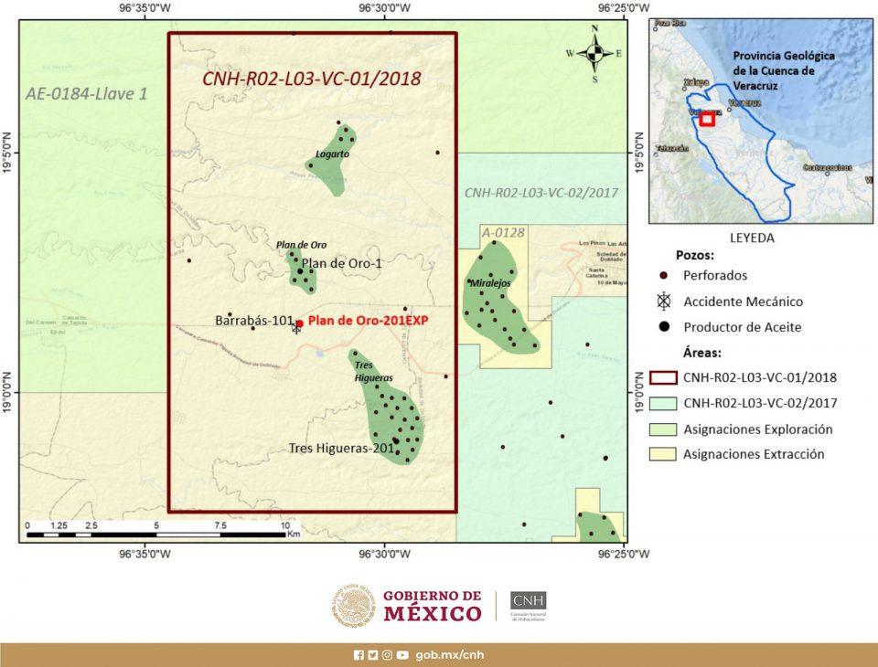 Bloque VC 01 perforará pozo Plan de Oro-201EXP