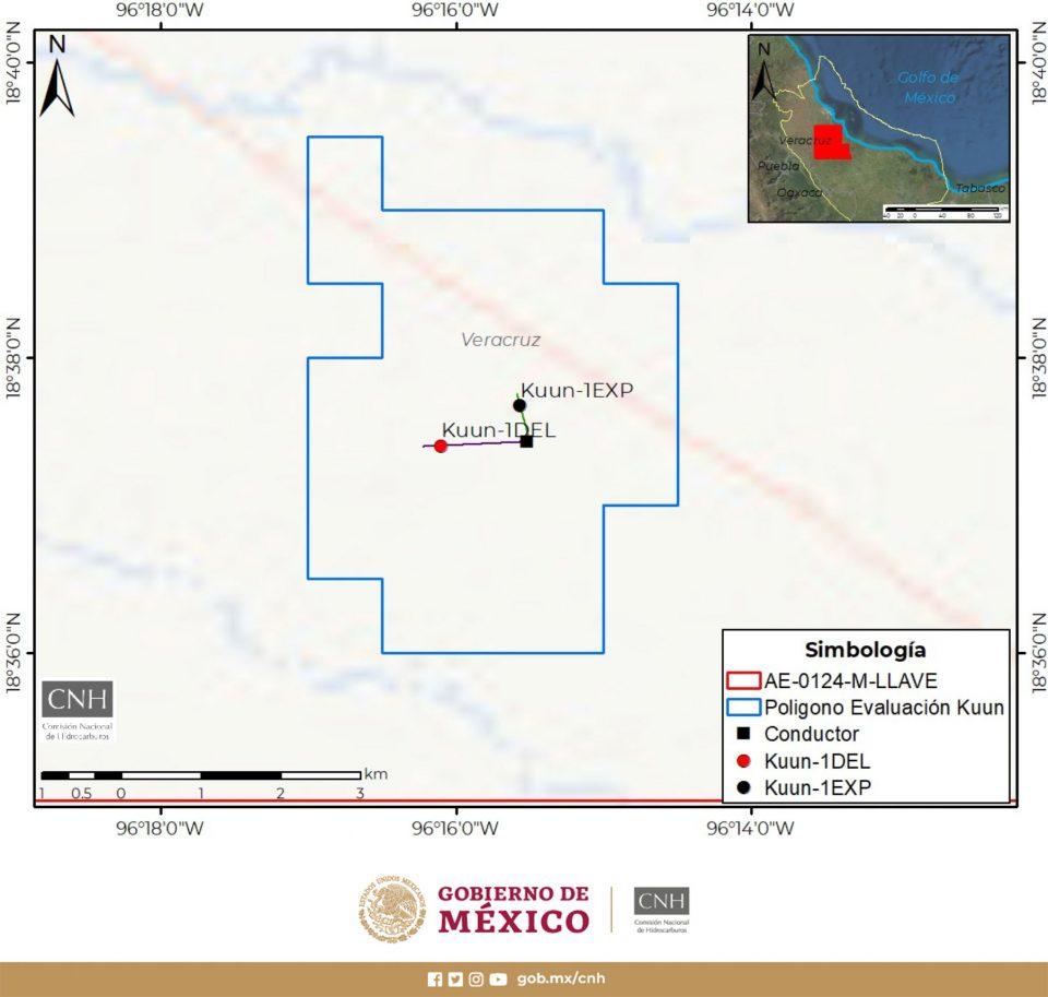 Aprueban a Pemex evaluación de descubrimiento Kuun-1EXP en Veracruz