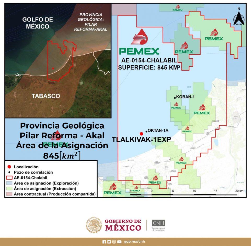Pemex va por 14.5 millones de barriles en Tlalkivak-1EXP