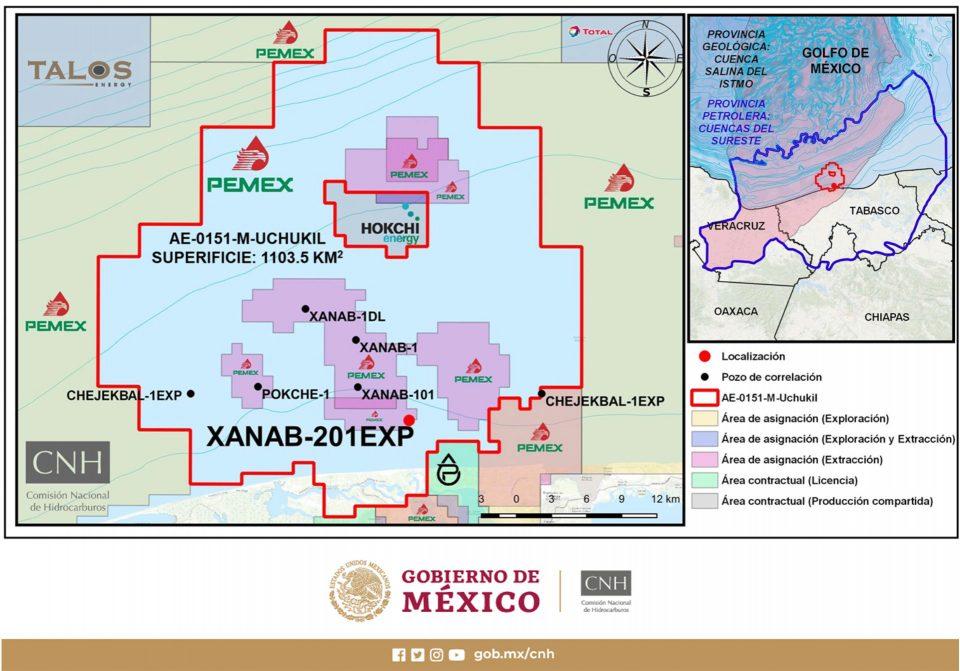 Pemex invertirá 98.8 mdd en perforación de Xanab-201EXP