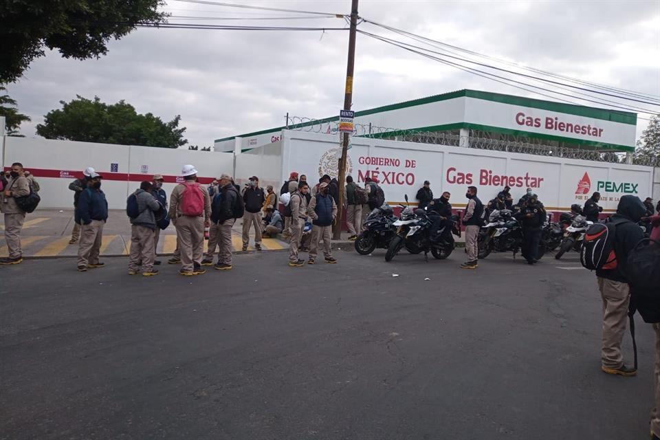 Protestas en Gas Bienestar