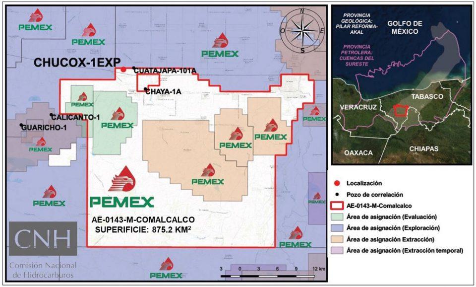 Pemex invertirá 13 mdd en perforación de Chucox-1EXP
